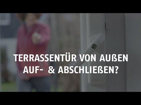 Terrassentür von außen abschließen mit dem ABUS HomeTec Pro