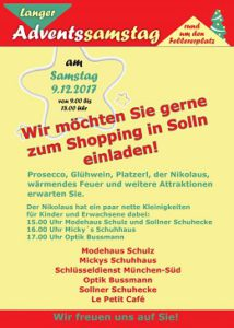 Advent-Shpping in München-Solln